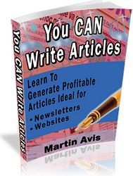Martin Avis' book You Can Write Articles